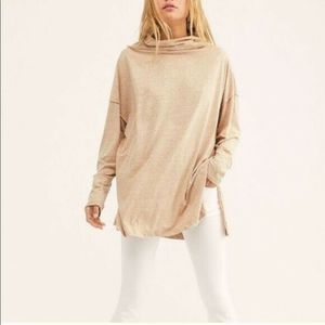 Free People Oversized Turtle Neck Long Sleeve Top